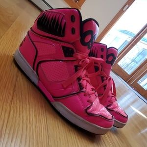 Neon pink osiris sneakers
